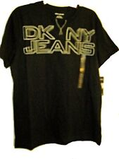 DKNY JEANS Logo Graphic Men's Black Cotton Top Tee Size Medium (M) New