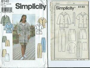 S 8140 sewing pattern JACKET SKIRT PANTS SHORTS sew STYLISH sizes 12-14-16 UNCUT