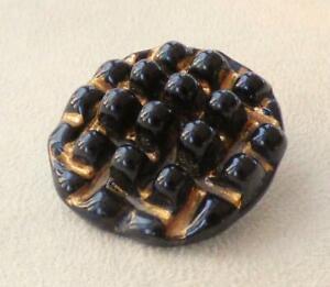 "GLASS DEVELOPMENTS Ltd (Brixton) CHUNKY BUTTON ""BLACK GRID"", 32mm_Bimini-Style"
