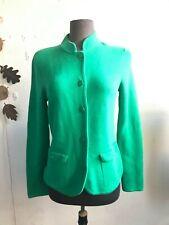 Talbots Womens Cardigan Green Small Knit Sweater Long Sleeve Jacket Pockets EUC