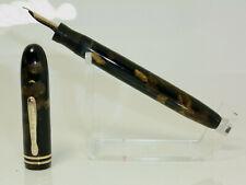Nice CONKLIN ENDURA Symetrik fountain pen semi flex F nib Freshly serviced