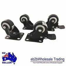 "4x50mm 2""PU Swivel Castor Wheels Trolley Furniture Caster Rubber 200kg"