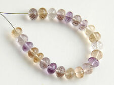 Natural Ametrine Faceted Rondelle Semi Precious Gemstone Beads 5.5mm.