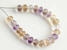 Natural Ametrine Faceted Rondelle Semi Precious Gemstone Beads 5.5mm.