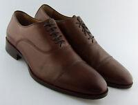 152480 MS50 Men's Shoes Size 11 M Dark Tan Leather Lace Up Johnston Murphy