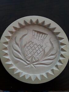 Wooden Shortbread mould with Thistle design - Scottish  20 cm wide