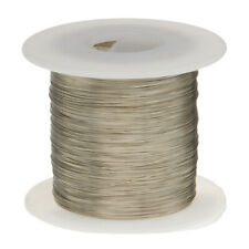"""30 AWG Gauge Tinned Copper Wire Buss Wire 500' Length 0.0100"""" Silver"""