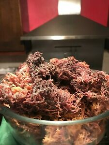 Purple Gold Sea-Moss Raw, Organic, Wildcrafted, Alkaline and Dr. Sebi approved