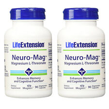 Neuro-Mag Magnesium L-Threonate from 2000 mg Magtein - Life Extension 2X90caps