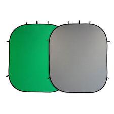 Studio- Falthintergrund 210x180 cm grau+ grün, Chroma-Key Foto-Hintergrund
