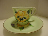 Vintage J.B. Betson's China Hand Painted Demitasse Cup & Saucer