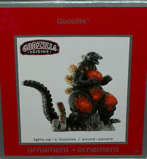 Godzilla Carlton Cards Xmas Tree Holiday Ornament Dinasaur Lights Up Sci fiction