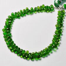 "Rare Chrome Tourmaline Faceted Teardrop Briolette Beads 8"""