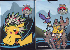 POKEMON BOITE DE RANGEMENT DE CARTE POKEMON INDIAN PIKACHU INDIEN 2013 (BLEU)