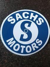 "3.75"" Dia (NEW Vinyl) Sachs Motors Blue and White Vinyl (Copy of old Sticker)"
