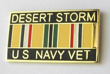 Desert Storm Navy Veteran Vet United States USN Lapel Pin Badge 1 inch