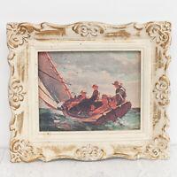 Framed Breezing Up by Winslow Homer Royale Precious Miniatures