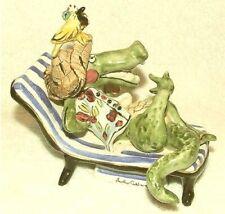 2001 Blue Sky Clayworks Alligator Crocodile Music Box Figurine Heather Goldminc