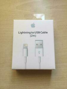 2 Meter LONG ORIGINAL APPLE IPHONE 5/6/7/8/X/XR/XMAX/11/12 LIGHTNING USB CABLE