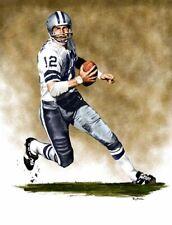 Roger Staubach Dallas Cowboys 8 X 10 Giclee by James Byrne Series 1
