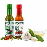 Dragon's Breath Pepper Sauces 2-Pack Green & Red Thai