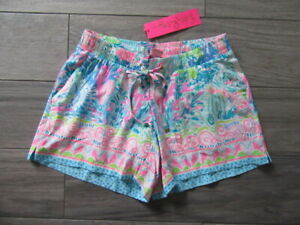 LILLY PULITZER KATIA SHORTS, FISHED MY WISH MULTI COLOR, NWT $78, XXS