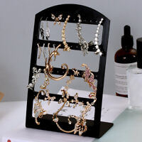 Fashion Black Storage Holder Earring Display Rack Jewelry Organizer Stud Stand