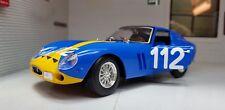 G LGB 1:24 Escala Azul Ferrari 250 Gto 1962 26018 Burago Detallado Coche de