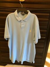 Men's Polo Ralph Lauren XL light blue Custom Fit Polo Shirt GUC