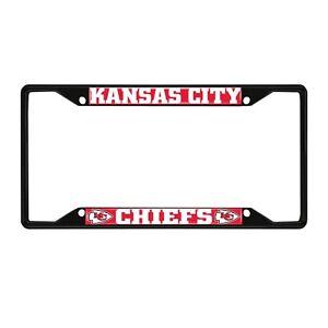 Fanmats NFL Kansas City Chiefs Black Metal License Plate Frame Del. 2-4 Days