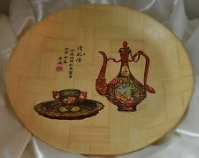 Oriental Style Tan Bamboo Plate Water Proof Plate