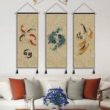 45X120cm Tapestry Koi Print Wall Haning Banner Japanese Style Livingroom Decor
