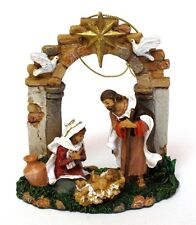 "Holy Family Ornament 3.5"" Fontanini Limited Edition Sculpture Figurine Decor"