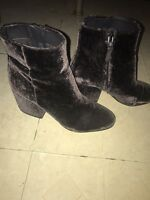 b777b42442ac2 NEW 3.1 Phillip Lim. Kyoto Grey Crushed-velvet Ankle Boot