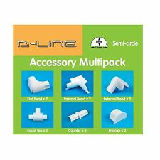 D-Line CABLE COVER ACCESSORY KIT 13Pcs Bend, Tee, Connector & End Cap *UK Brand