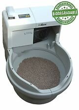 Self Washing Cat Litter Box Genie Washable Granules Clean Automatic Flushing New