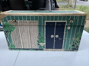 VINTAGE ORIGINAL1962 CARDBOARD BARBIE DREAM HOUSE WITH FURNITURE