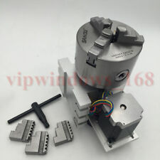 CNC Router 4th A Axis Rotary Axis 3Jaw 100mm Lathe Chuck Four Axis for Engraver