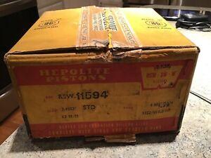 HILLMAN MINX 1932-49  Hepolite SET OF 4 PISTONS 11594 STD NOS Original Pac