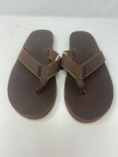 American Eagle Outfitters Leather Flip Flops Sandals Brown Size 8-12 New AEO