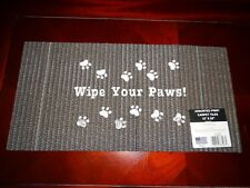 """WIPE YOUR PAWS Dog Cat Welcome Mat Rug 12"""" x 24"""" Carpet Tile BRAND NEW Free Ship"""