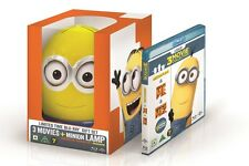Minions Lamp Box Limited Edition Blu Ray 3- Movies (Minions,Despicable Me 1+2)
