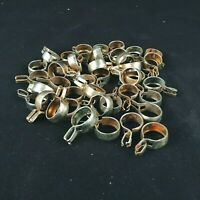 "Metal Cafe Curtain Rings Holder Hangers Brackets Clips 5/8"" Lot Of 43"