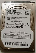 "Toshiba 2.5"" SATA Notebook Hard Drive 250GB MK2565GSX Windows10 with drivers"