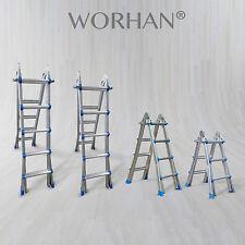 WORHAN® Foldable Ladder Multi Purpose Extendable Aluminum Extension Ladders