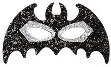 Fledermaus Augenmaske mit Glitzer NEU - Karneval Fasching Maske Gesicht