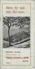 How to See the Riviera 1927 Thomas Cook & Son Motor Tours / Nice France / Photos