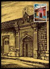 SPAIN MK 1973 HISPANIDAD NICARAGUA LEON GOUVENEUR HAUS MAXIMUMKARTE MC CM df46