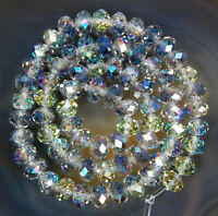 1000pcs 3x4mm Multicolor AB Crystal Faceted Roundel Gems Loose Beads