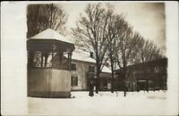 Park & Bandstand - Georgetown NY Cancel c1910 Real Photo Postcard